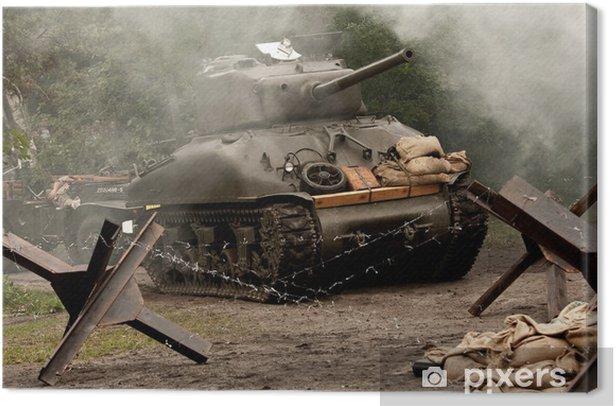 Tableau sur toile Sherman Tank - WW II - Thèmes