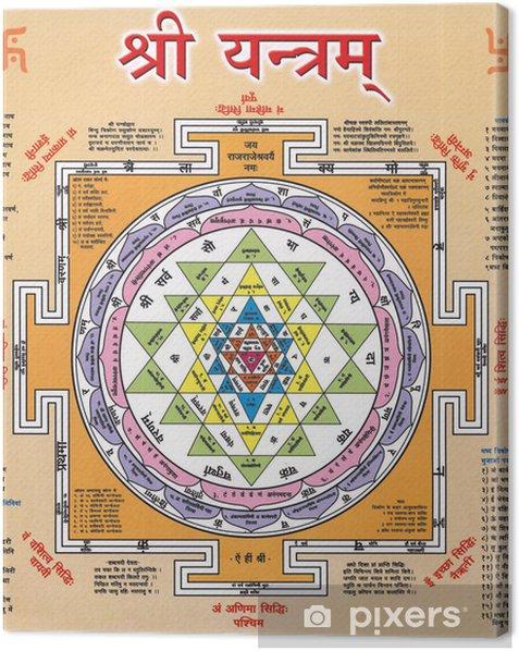 Tableau sur toile Shree Yantra DES INDIENS Diwali festival - Bâtiments publics
