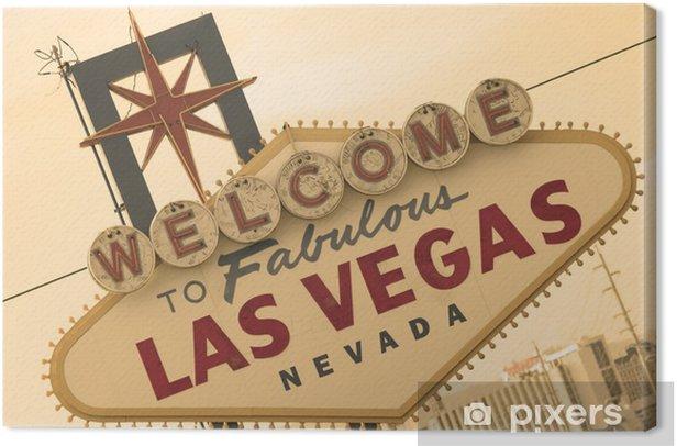 Tableau sur toile Signe de Las Vegas sépia avant - Las Vegas