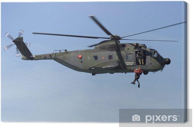 Tableau sur toile Sikorsky HH-3F esercitazione soccorso - Dans les airs