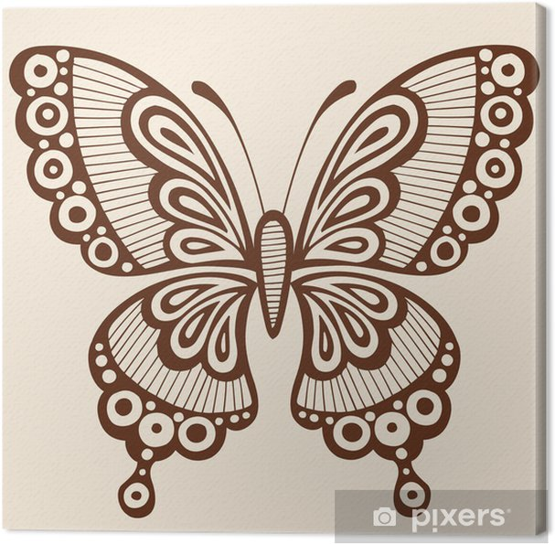 a0fd4f7d1 Tableau sur toile Silhouette Tattoo Butterfly Vector Illustration Design  Element
