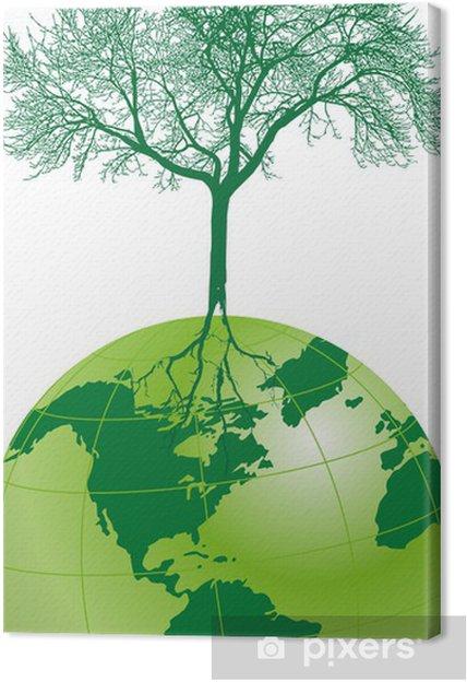 Tableau sur toile Silhouettes 0111 - Ecologie