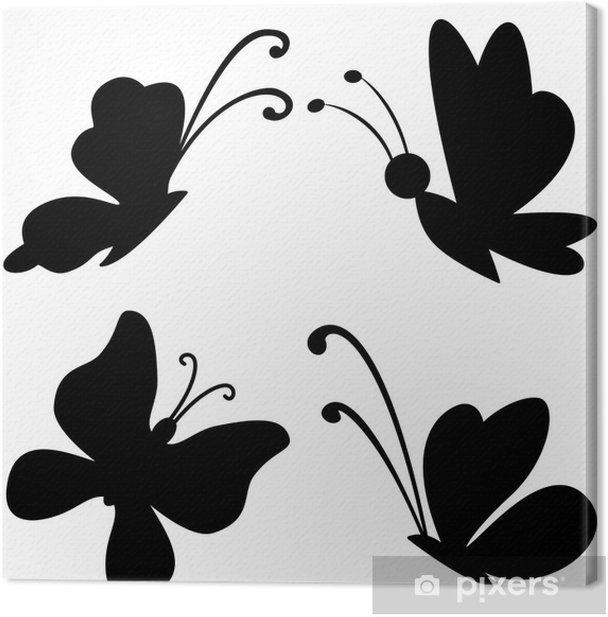 Tableau sur toile Silhouettes de papillons - Merveilles naturelles