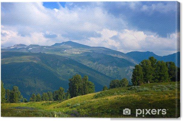 Tableau sur toile Simple montagnes paysage - Montagne