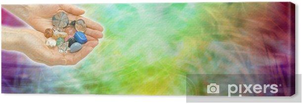 Tableau sur toile Site guérison tête de la bannière cristal - Santé et médecine
