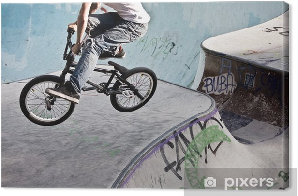 Tableau sur toile Skatepark im BMX - Cyclisme