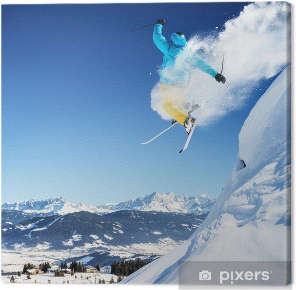 Tableau sur toile Skier jumping - Thèmes