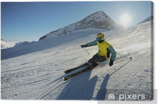 Tableau sur toile Skieur - Le ski