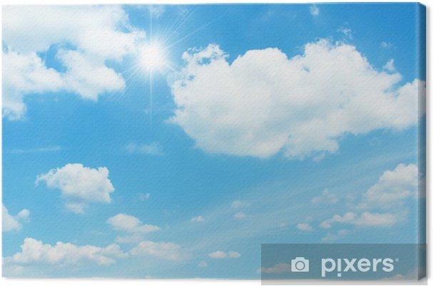 Tableau sur toile Sky rétroéclairage - Ciel