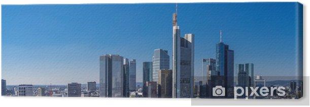 Tableau sur toile Skyline Frankfurt am Main - Paysages urbains