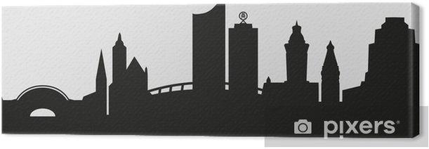 Tableau sur toile Skyline Leipzig - Europe