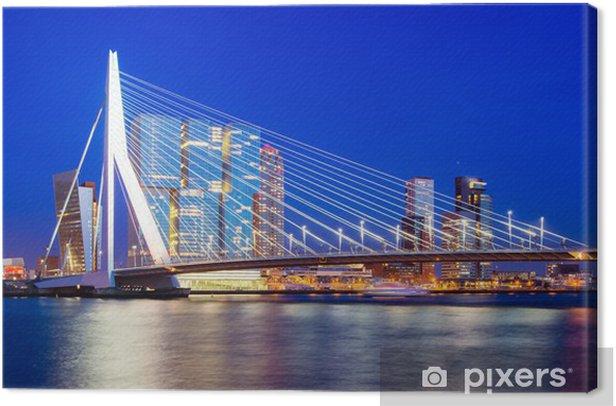 Tableau sur toile Skyline Rotterdam, Pays-Bas - Thèmes