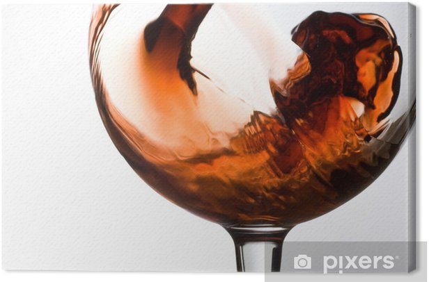Tableau sur toile Slash dans un verre - Alcool