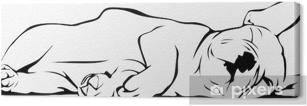 Tableau sur toile Sleeping Bulldog français pour bébé - Sticker mural