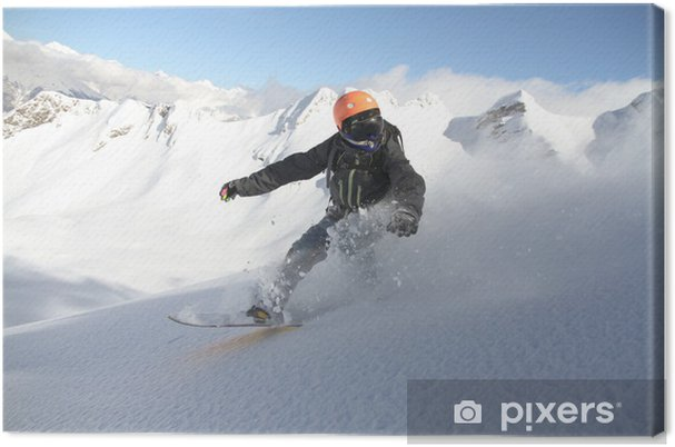 Tableau sur toile Snowboard freerider - Sports d'hiver