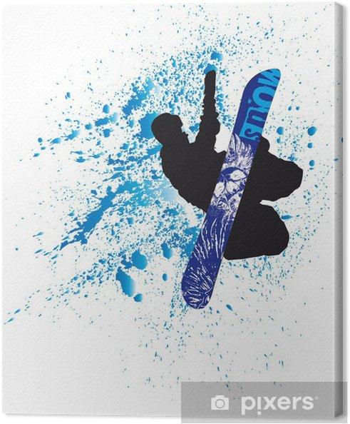 Tableau sur toile Snowboard - Sports d'hiver