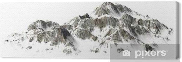 Tableau sur toile __Snowy Montagnes - Sommet - séparé sur fond blanc - Paysages