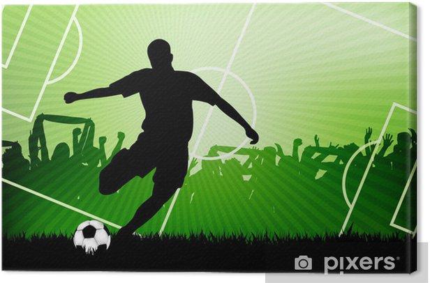 Tableau sur toile Soccer background -