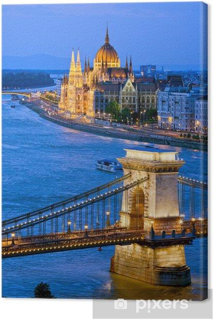 Tableau sur toile Soirée à Budapest - Paysages urbains