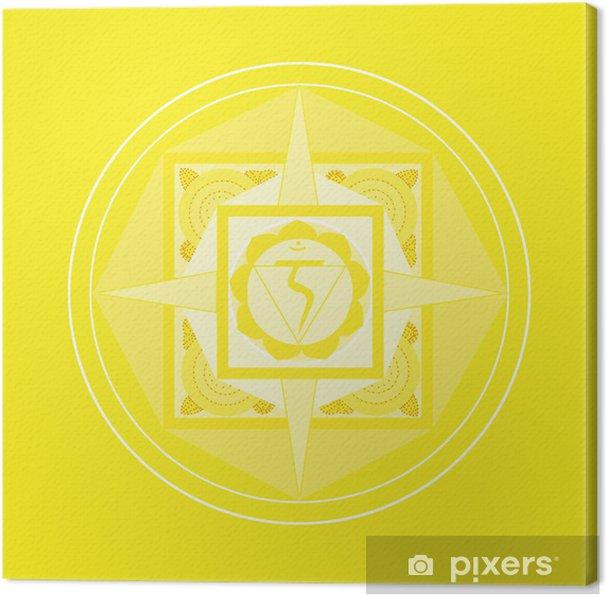 Tableau sur toile Solarplexus-Chakra Mandala - Criteo