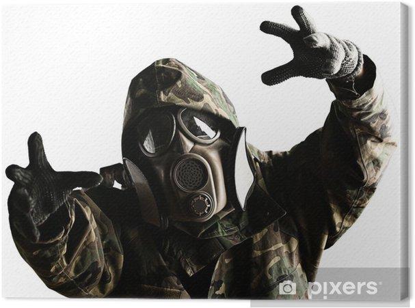 Tableau sur toile Soldat avec un masque - Thèmes