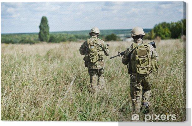 Tableau sur toile Soldat dans la patrouille - Violence et criminalité