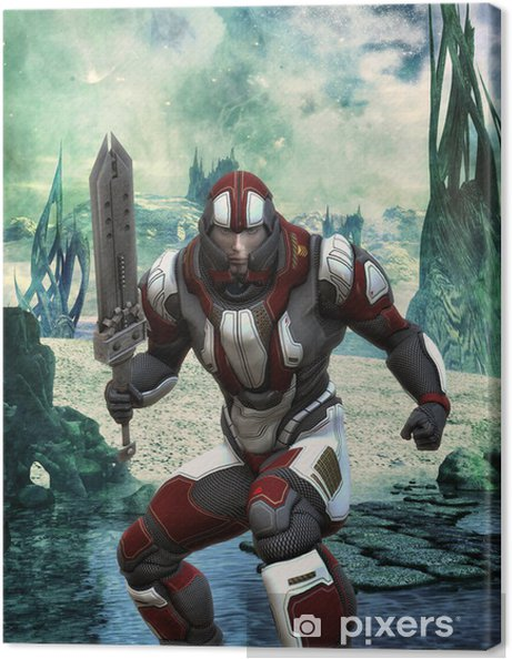 Armure Futuriste tableau sur toile soldat en armure futuriste • pixers® - nous vivons