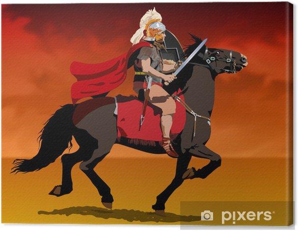 Tableau sur toile Soldat romain à cheval - Autres sentiments