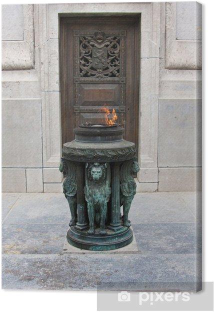 Tableau sur toile Soldier monument à Bruxelles - Monuments