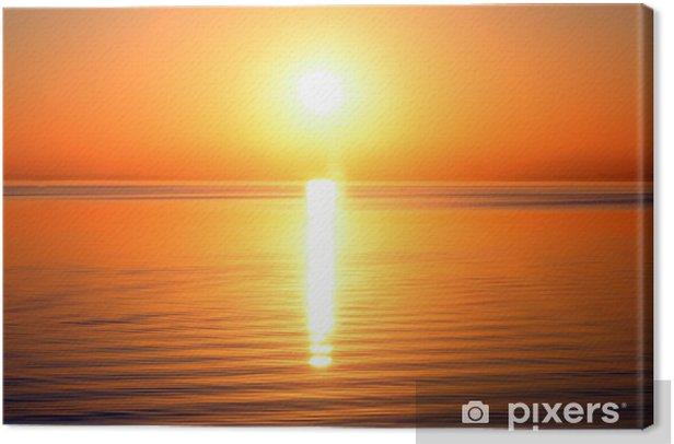 Tableau sur toile Soleil et la mer - Eau