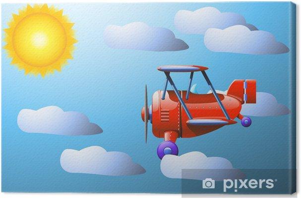 Tableau sur toile Soleil nuage plan - Industrie lourde