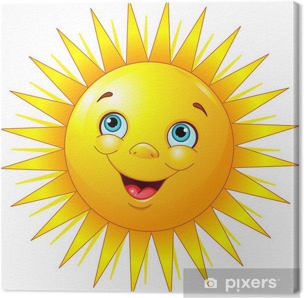 tableau sur toile soleil souriant pixers nous vivons. Black Bedroom Furniture Sets. Home Design Ideas