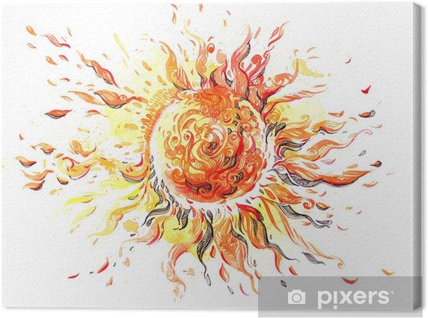 Tableau sur toile Soleil - Espace