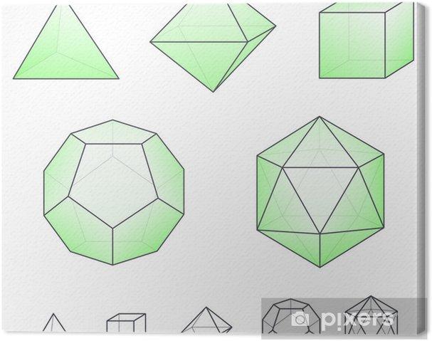 Tableau sur toile Solides platoniques 2 - Sciences fondamentales et appliquées