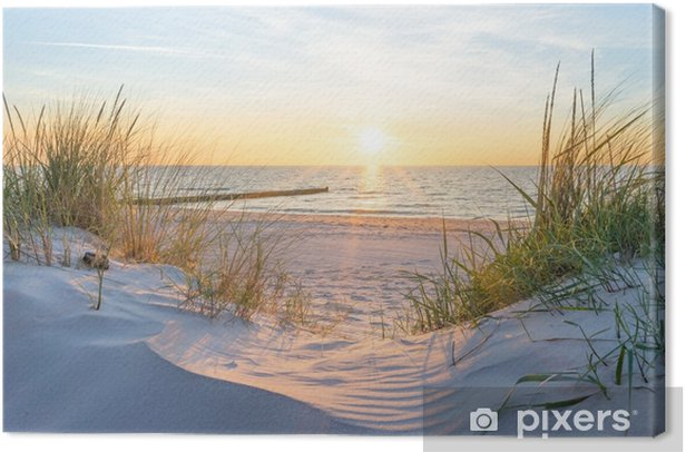 Tableau sur toile Sonnenuntergang an der ostsee - Paysages