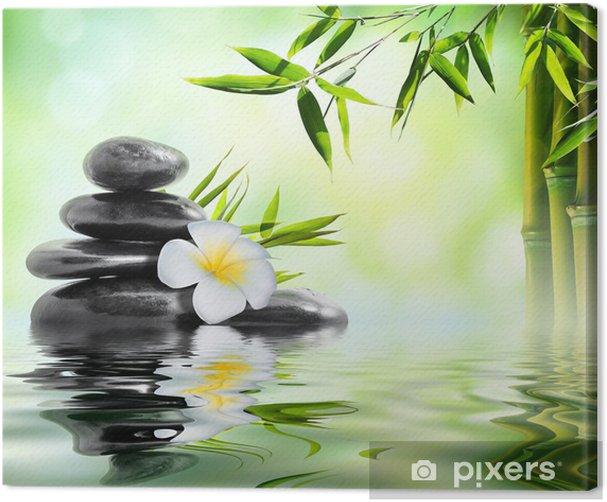 Tableau sur toile Spa massage dans le jardin de frangipaniers et de bambou - Thèmes