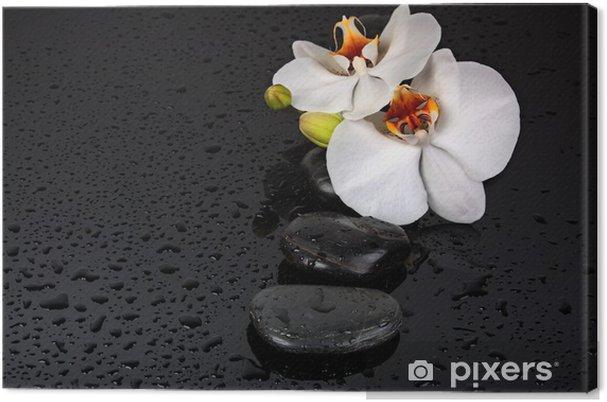 Tableau sur toile Spa pierre - Fleurs