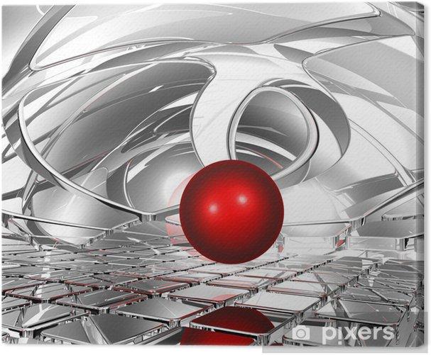 Tableau sur toile Sphère dans l'espace abstrait - Signes et symboles
