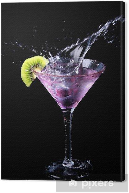 Tableau sur toile Splash Martini 2 - Pour restaurant