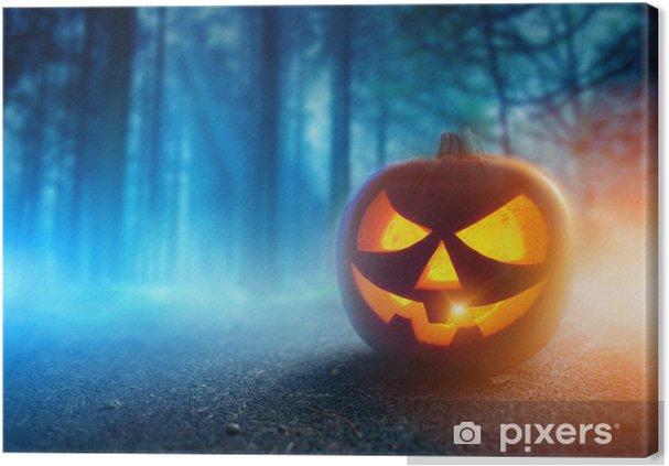 Tableau sur toile Spooky Halloween Night - Fêtes internationales