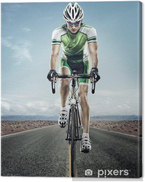 Tableau sur toile Sport. Cycliste sur route. - Cyclisme