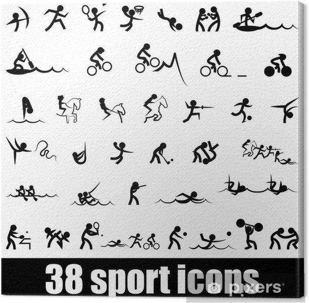 Tableau sur toile Sport icons - Signes et symboles
