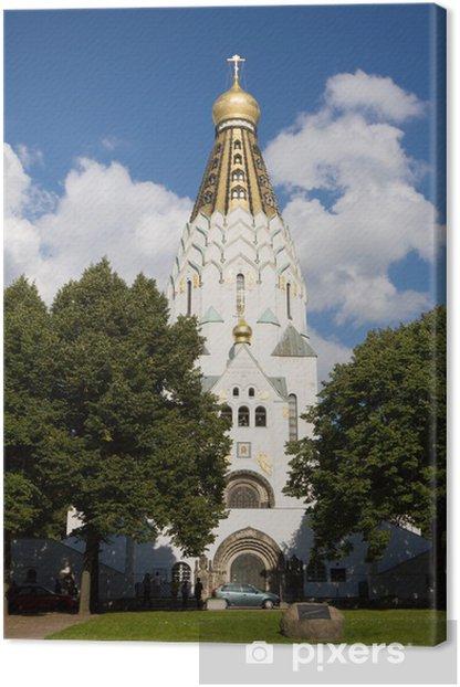 Tableau sur toile St-Alexi Église orthodoxe russe à Leipzig, Allemagne - Europe