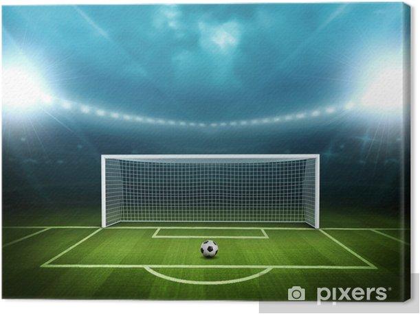 Tableau sur toile Stade avec un ballon de soccer -