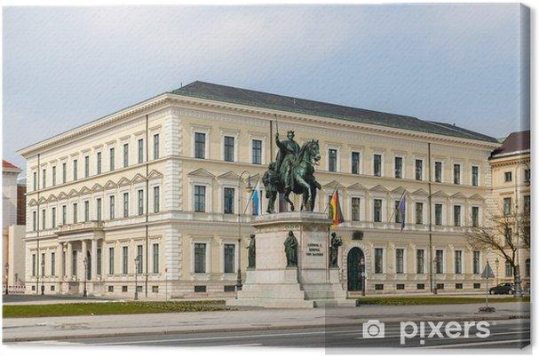 Tableau sur toile Statue de Louis Ier - Munich, Bavière, Allemagne - Europe