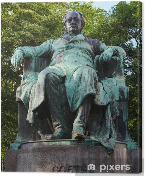 Tableau sur toile Statue du célèbre poète allemand Goethe à Vienne - Villes européennes