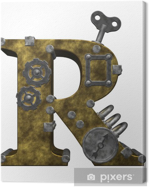 Tableau sur toile Steampunk lettre r - Steampunk