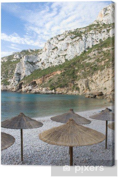 Tableau sur toile Steiküste mit Strand - Vacances