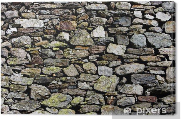 Tableau sur toile Steinmauer - Industrie lourde