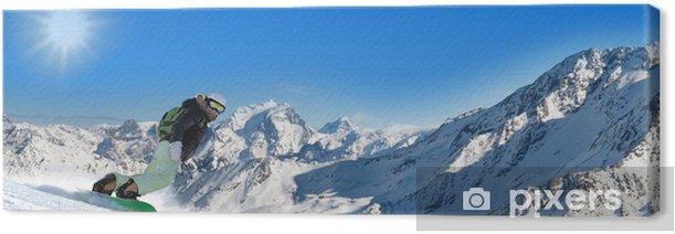 Tableau sur toile Stitched Panorama ski - Vacances